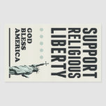 Support Religious Liberty Rectangular Stickers