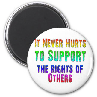 Support Rights of Others 6 Cm Round Magnet