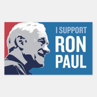 Support Ron Paul Rectangular Sticker