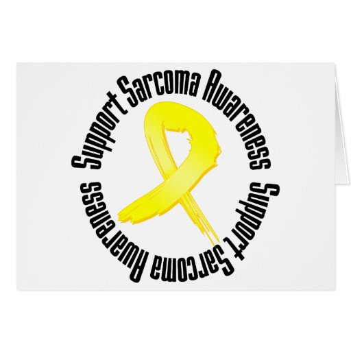 Support Sarcoma Awareness Greeting Card