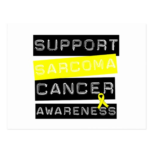 Support Sarcoma Cancer Awareness Postcard