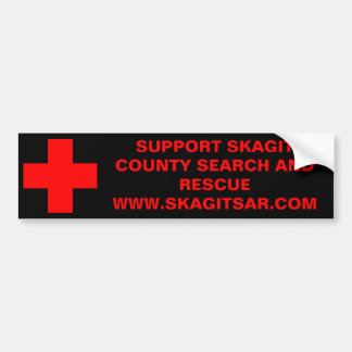SUPPORT SKAGIT COUNTY SEARCH AND RES... CAR BUMPER STICKER