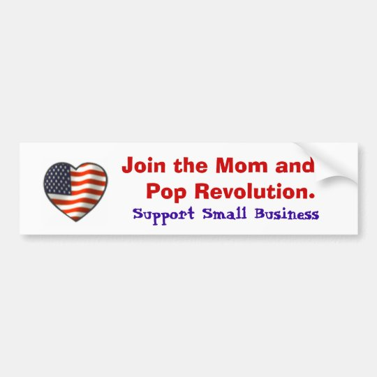 Support Small Business Bumper Sticker