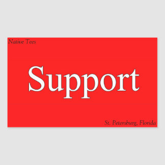 Support St. Pete Native Tee Stickers! Rectangular Sticker