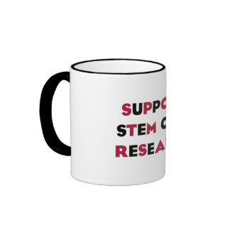 Support Stem Cell Research Ringer Mug