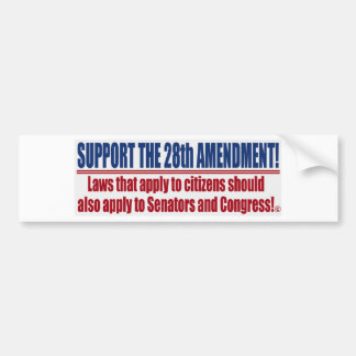 Support the 28th Amendment Bumper Sticker