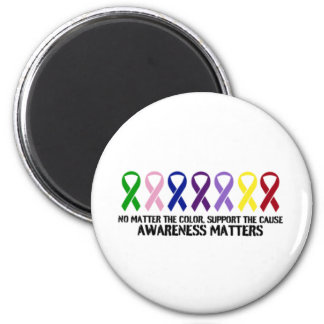 Support the Cause 6 Cm Round Magnet