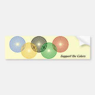 Support the Colors - Car Bumper Sticker