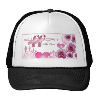 Support The cure, Breast Cancer Awareness Mesh Hat