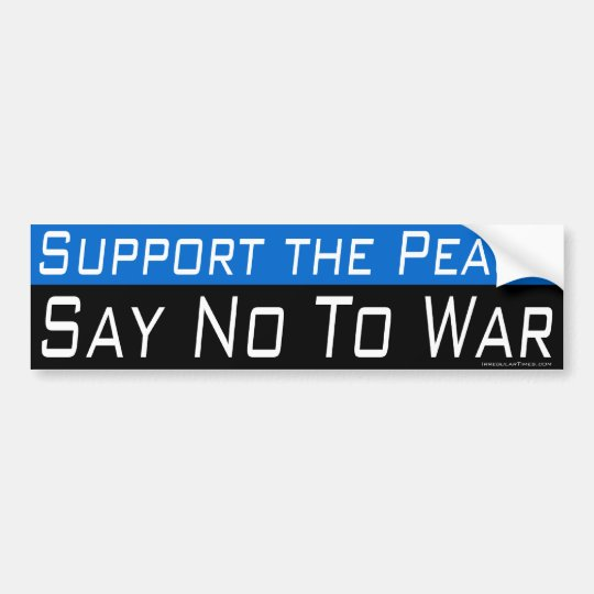 Support the Peace Bumper Sticker