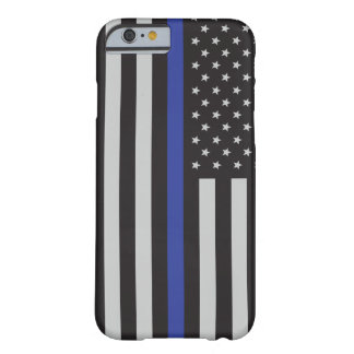 Support the Police Thin Blue Line American Flag Barely There iPhone 6 Case