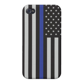 Support the Police Thin Blue Line American Flag Case For The iPhone 4