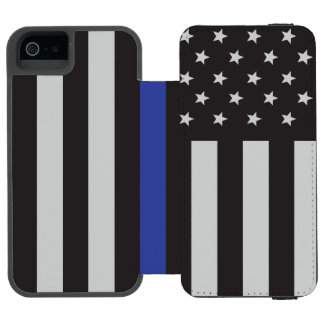 Support the Police Thin Blue Line American Flag Incipio Watson™ iPhone 5 Wallet Case