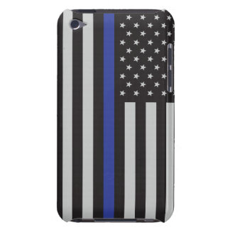 Support the Police Thin Blue Line American Flag iPod Touch Case-Mate Case