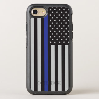 Support the Police Thin Blue Line American Flag OtterBox Symmetry iPhone 8/7 Case