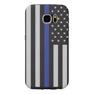 Support the Police Thin Blue Line American Flag Samsung Galaxy S6 Cases