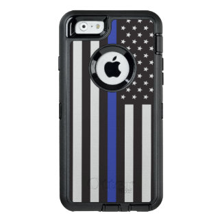Support the Police Thin Blue Line American OtterBox Defender iPhone Case