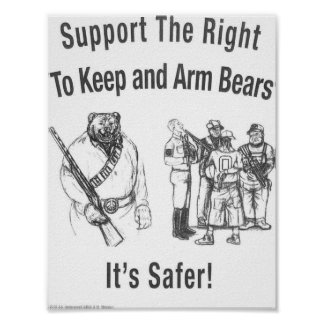 Support the Right To Arm Bears Print
