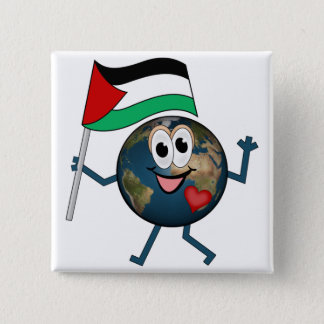 Support the state of Palestine 15 Cm Square Badge