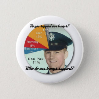 Support the Troops! 6 Cm Round Badge