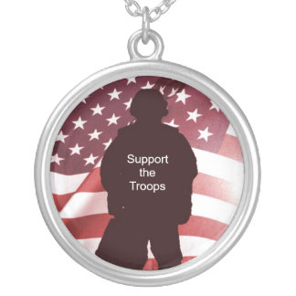 Support the Troops Patriotic Military Necklaces
