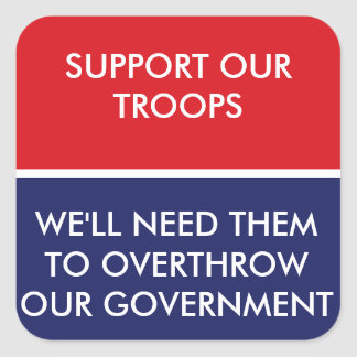 Support The Troops Square Sticker