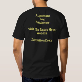 Support the Zazzle How2 Website T-shirt