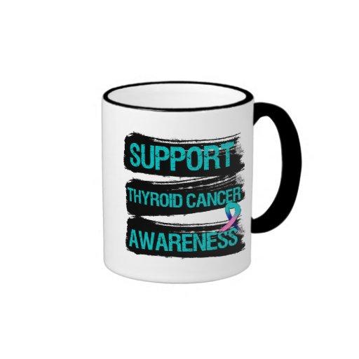 Support Thyroid Cancer Awareness Grunge Coffee Mug