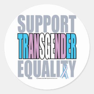 Support Transgender Equality Round Sticker