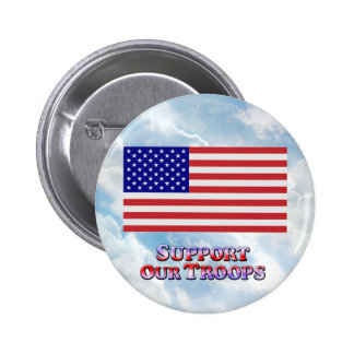 Support Troops Flat - Round Button
