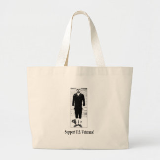 Support U.S. Veterans Jumbo Tote Bag