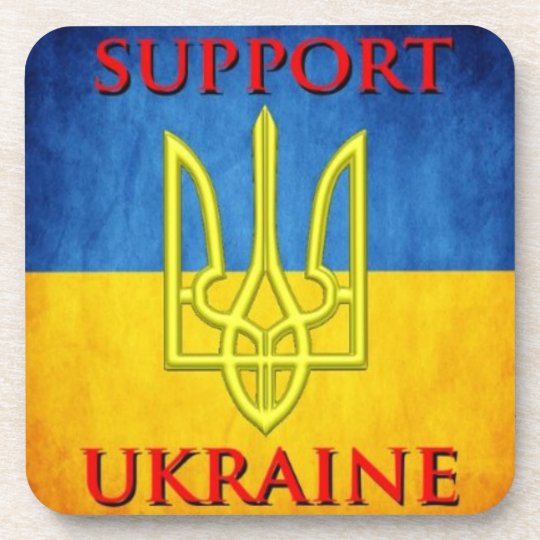 Support Ukrainian Tryzub Coaster