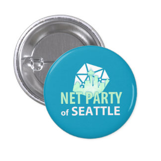 Support Upgrading Democracy with the Net Party 3 Cm Round Badge