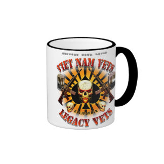 Support Viet Nam/Legacy Vets MC Mug with Skull Mug