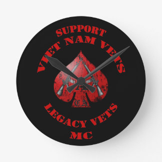 Support Viet Nam Vets / Legacy Vets MC - Spade Clo Round Clock