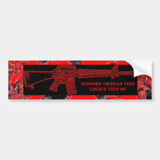 Support Vietnam/Legacy Vets MC M-16 Bumper Sticker
