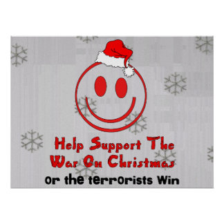 Support War On Christmas Poster
