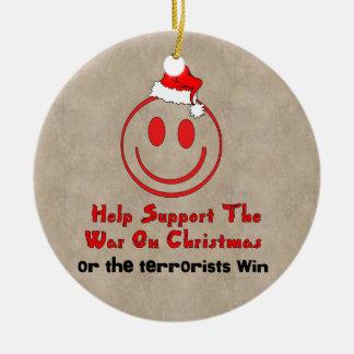 Support War on Christmas Round Ceramic Decoration
