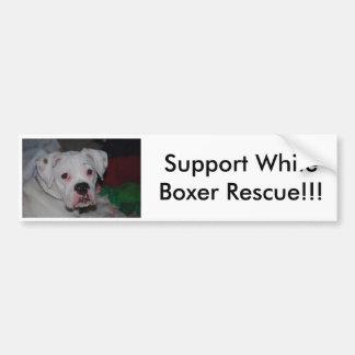 Support White Boxer Rescue!!! Bumper Sticker