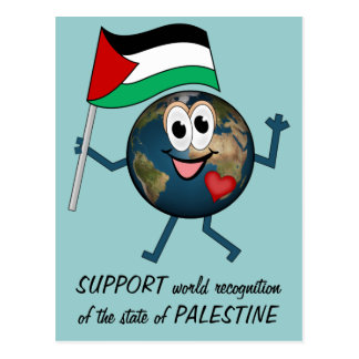 Support world recognition of the state of Palestin Postcard