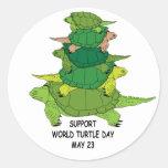 Support World Turtle Day Sticker