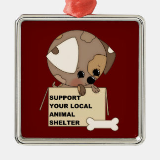Support Your Animal Shelter Christmas Ornament