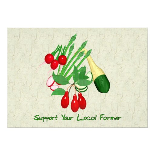Support Your Local Farmer Personalized Invites