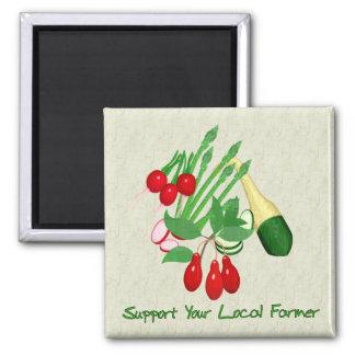 Support Your Local Farmer Fridge Magnet