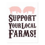 Support Your Local Farms! Postcard