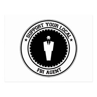 Support Your Local FBI Agent Postcard