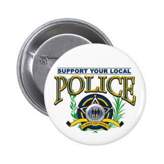 Support Your Local Police 6 Cm Round Badge