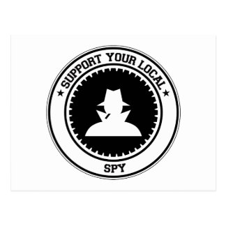 Support Your Local Spy Postcard