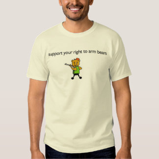 support your right to arm bears tee shirt