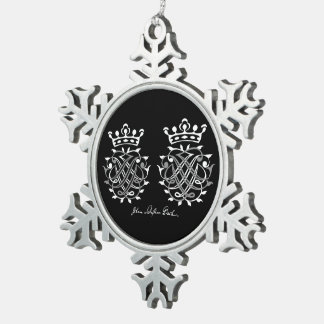 Supporter with Johann Sebastian Bach seal Pewter Snowflake Decoration